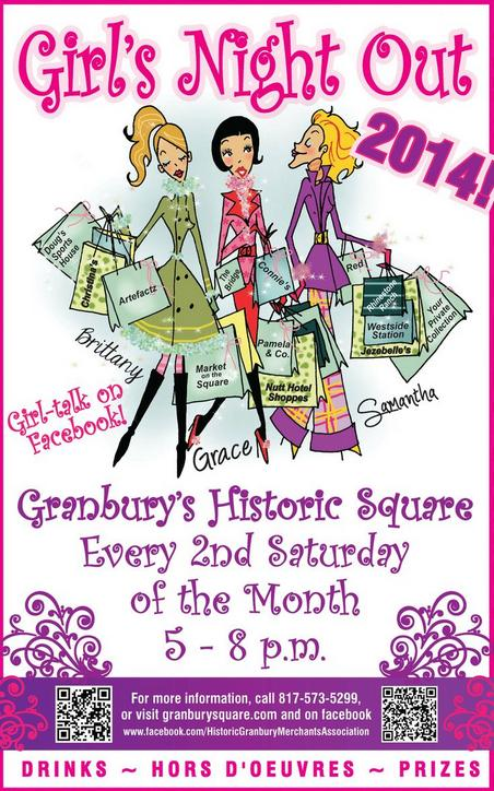Girls Night Out Saturday Evening Shopping  @ 13 Shops Around The Square