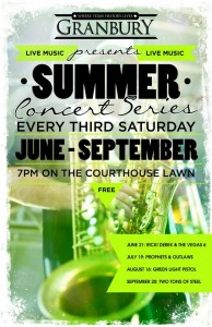 Free Summer Concert Series @ Historic Granbury Square