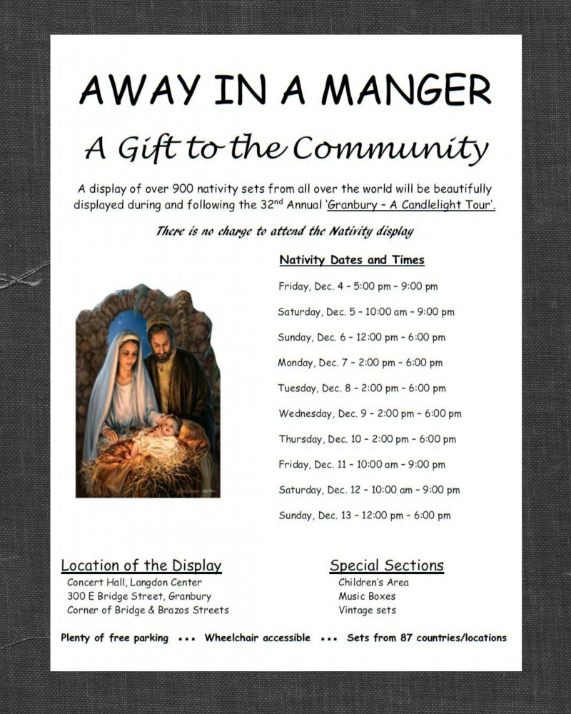 Away In A Manger - A Gift To The Community @ Langdon Center Concert Hall | Granbury | Texas | United States
