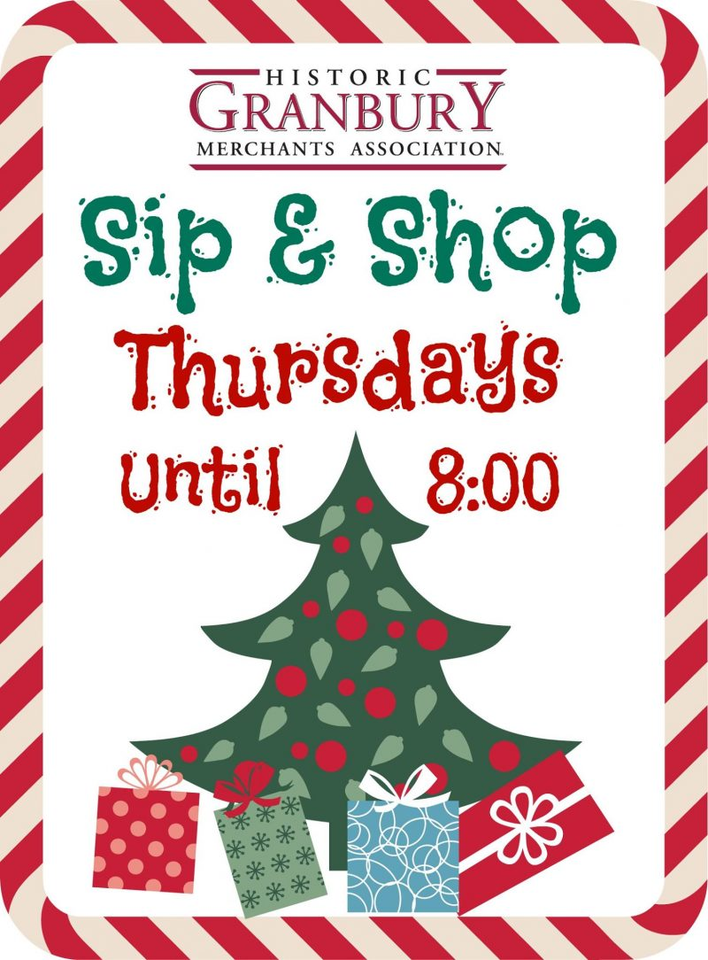 Sip & Shop Thursday Nights @ Granbury Square