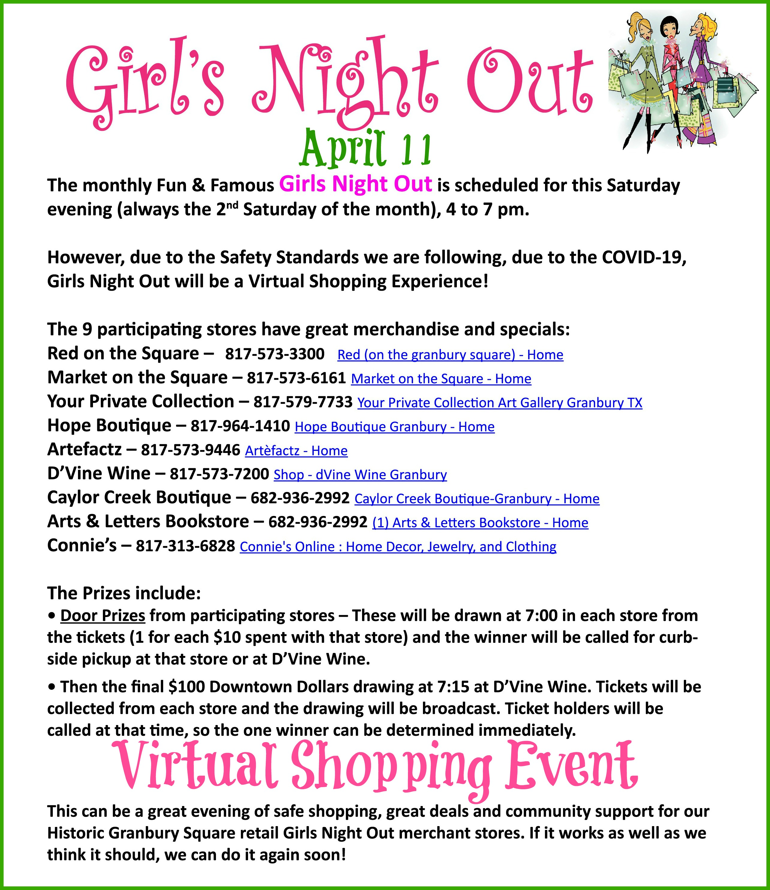 VIRTUAL Girls Night Out