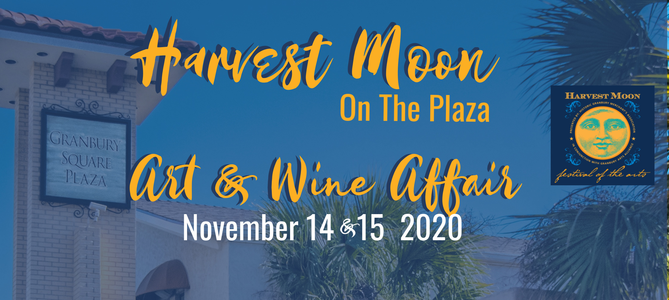 Harvest Moon on the Plaza Art & Wine Affair @ Granbury Square Plaza