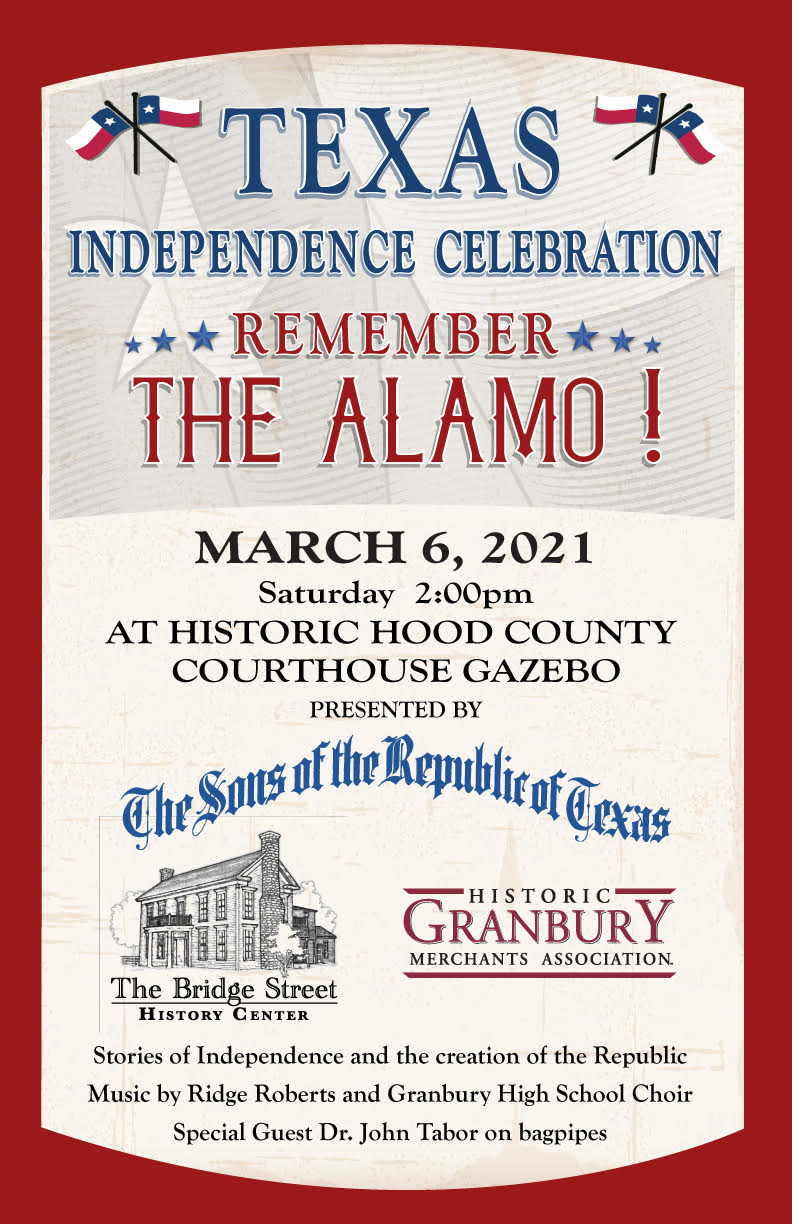 Texas Independence Celebration @ Historic Hood County Courthouse Gazebo