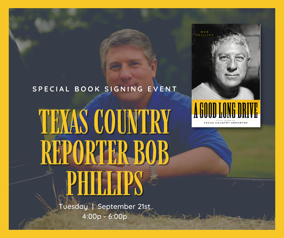 COUNTRY REPORTER BOB PHILLIPS BOOK SIGNING @ Arts and Letters Bookstore